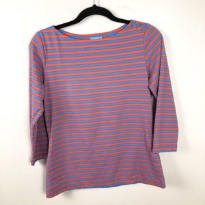J. McLaughlin striped Pink and Blue Blouse